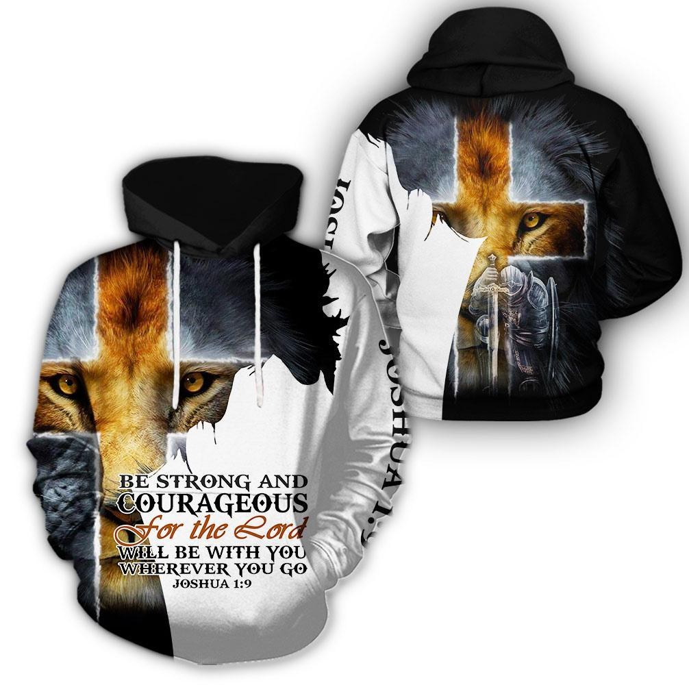 Trending 3D Christian Clothing - Be Strong And Courageous - GnWarriors Clothing