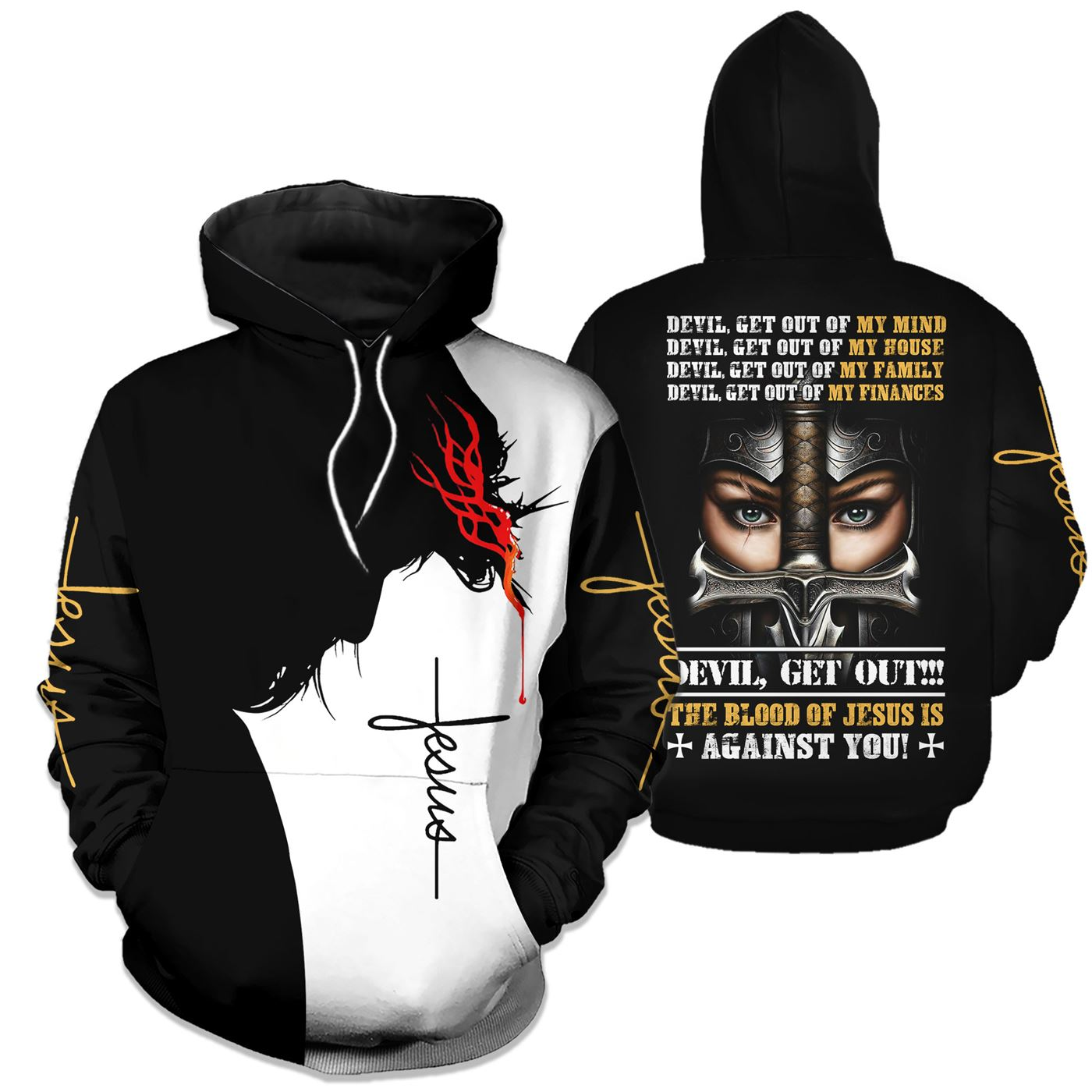 Legendary 3D Christian Clothing - Devil Get Out - GnWarriors Clothing