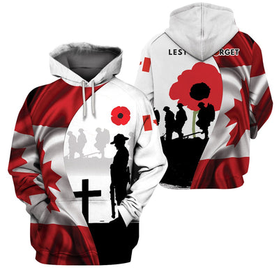 3D Apparel - Canada Veteran - Lest We Forget - 4zOutfitters Merchandise
