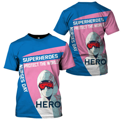 Nurse Clothing - All Over 3D Printed - Superheroes Protect The World - GnWarriors Clothing