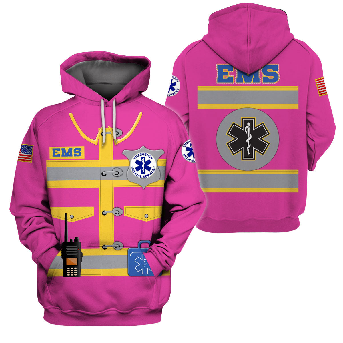 EMS 3D ALL OVER PRINTED SHIRTS FOR MEN AND WOMEN - GnWarriors Clothing