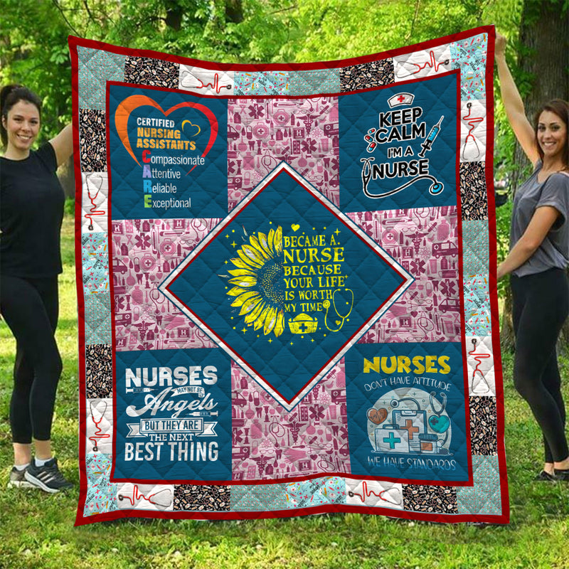 Limited Edition Nurse Quilt - GnWarriors Clothing