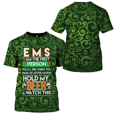 Irish EMS Proud St.Patrick's Day T-Shirt Hoodies Apparel - GnWarriors Clothing