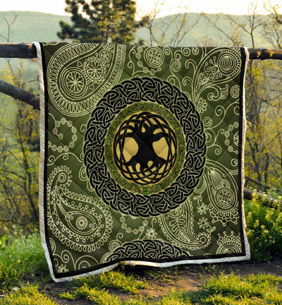 Irish Celtic Tree Of Life Quilt - GnWarriors Clothing