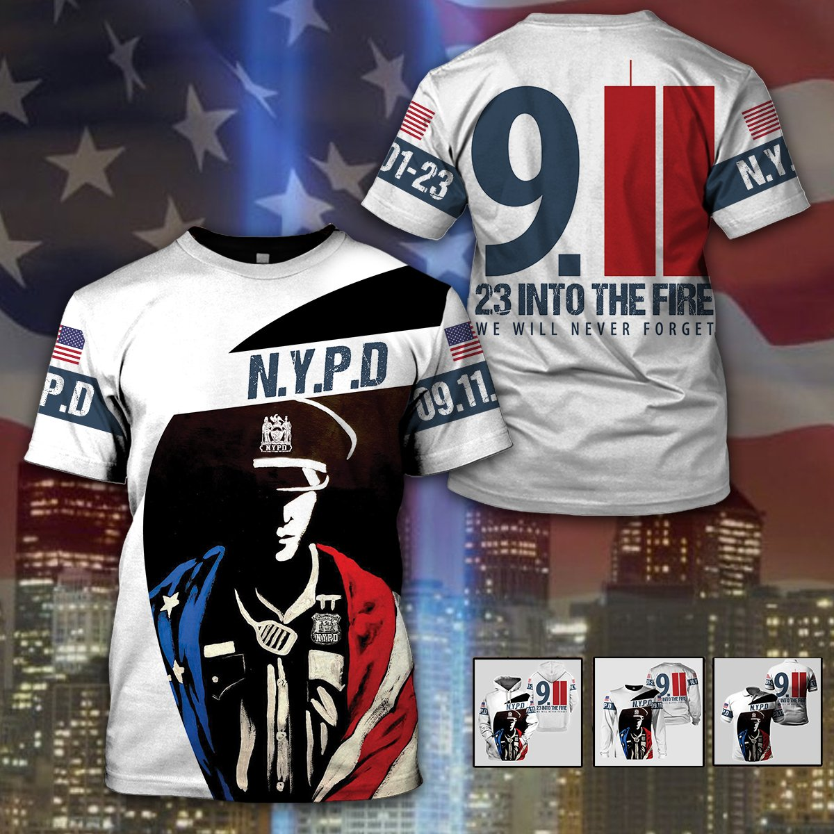 3D Law Enforcement Apparels- 23 into the fire - 4zOutfitters Merchandise