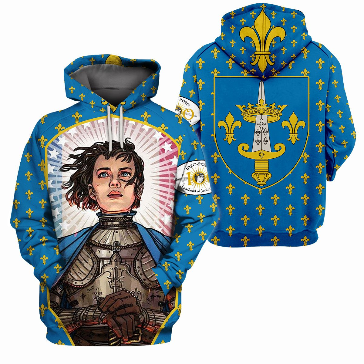 3d Christian Apparel - Sainthood Of Joan Of Arc - GnWarriors Clothing