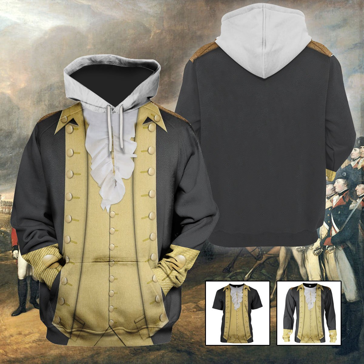 3D 1776 Costume - Sons of Liberty - George Washington