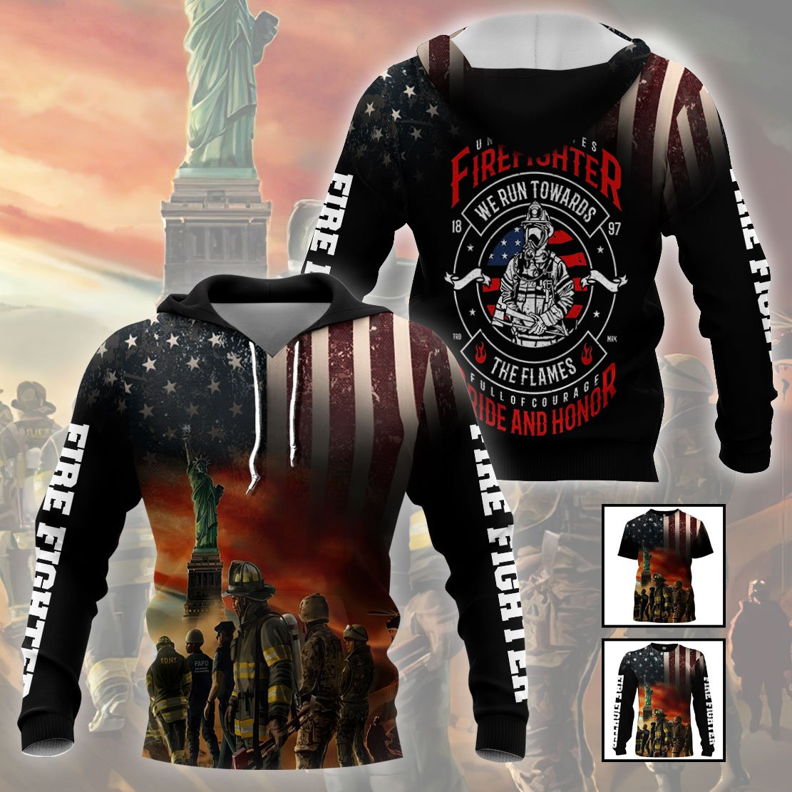 3D Firefighter Apparels  - Full of Courage - 4zOutfitters Merchandise