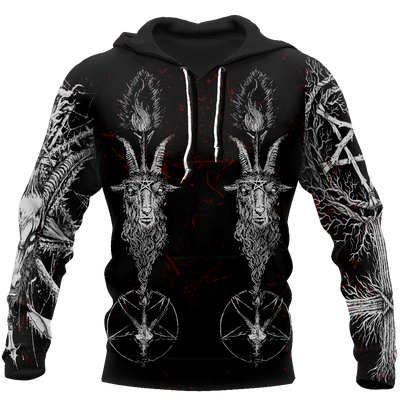 Satanic 3D All Over Printed Hoodie MP851