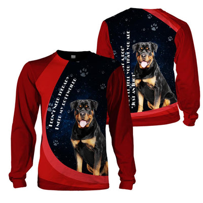 3d apparel - I don't need therapy, I need my Rottweiler - 4zOutfitters Merchandise
