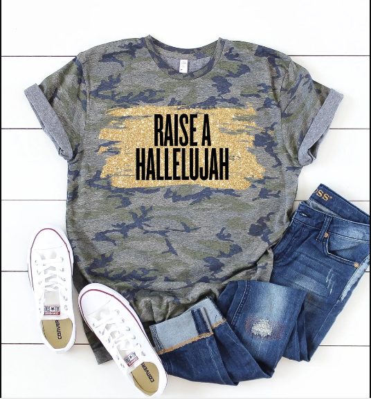 Christian 2D Top Trending Clothing - Raise A Hallelujah - GnWarriors Clothing