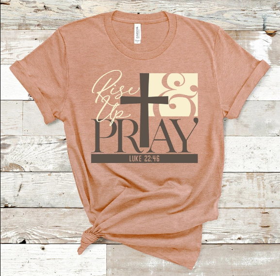 Christian 2D Top Trending Clothing - Rise Up & Pray - GnWarriors Clothing