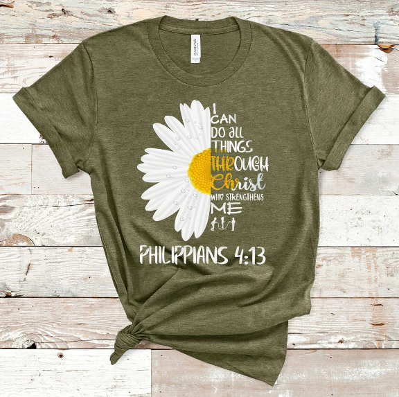 Christian 2D Top Trending Clothing - I Can Do All Things - GnWarriors Clothing