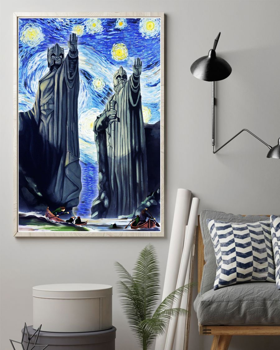 3D Canvas - Starry night - The Gate of Argonath