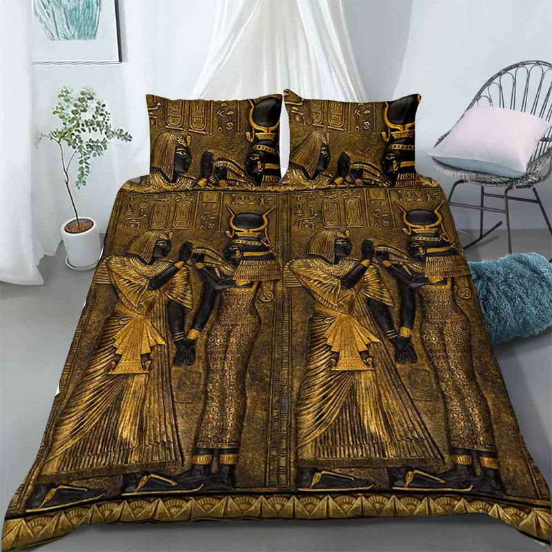 Bedding Set - Ancient Egypt Gods Of Egypt - 4zOutfitters Merchandise