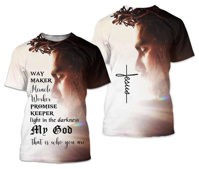Best selling 3d apparel - Christian - Way maker Miracle worker promise keeper