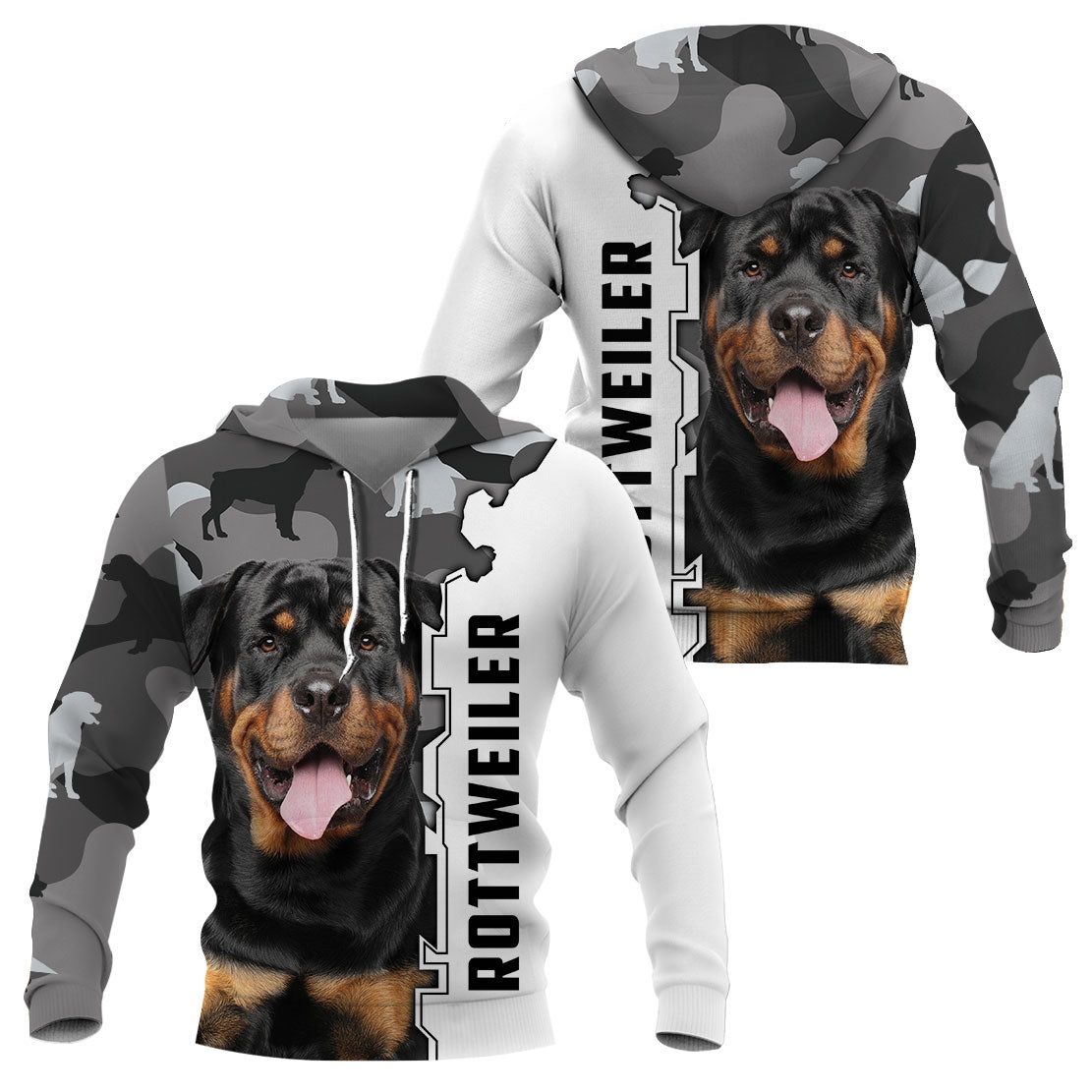 3D Apparel - Gray camouflage - Rottweiler