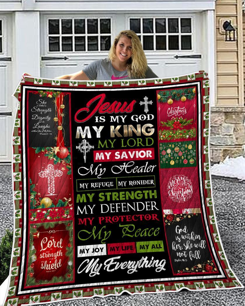 Epic 3D Printed Quilt - Jesus Is My Everything - GnWarriors Clothing