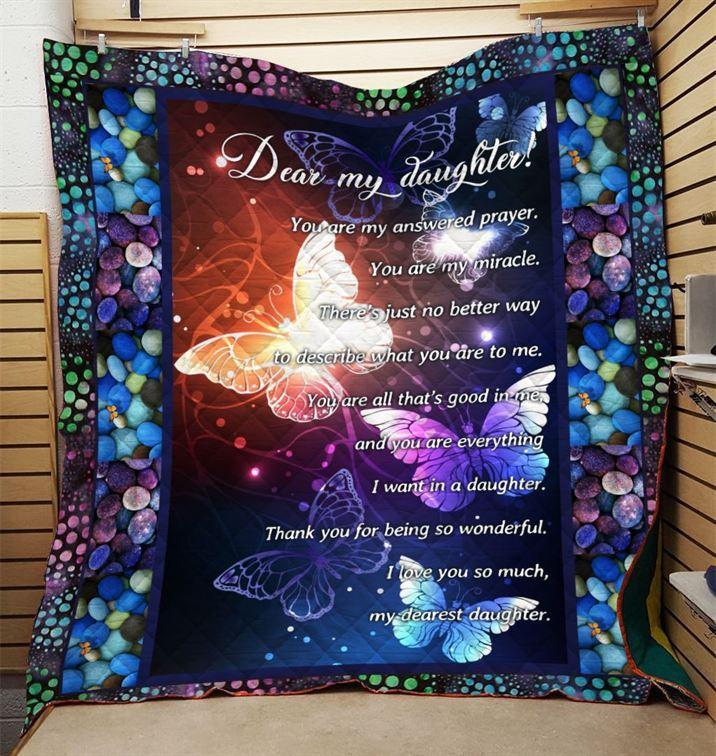 Trending Christian Quilt Collection - Dear My Daughter Quilt - GnWarriors Clothing