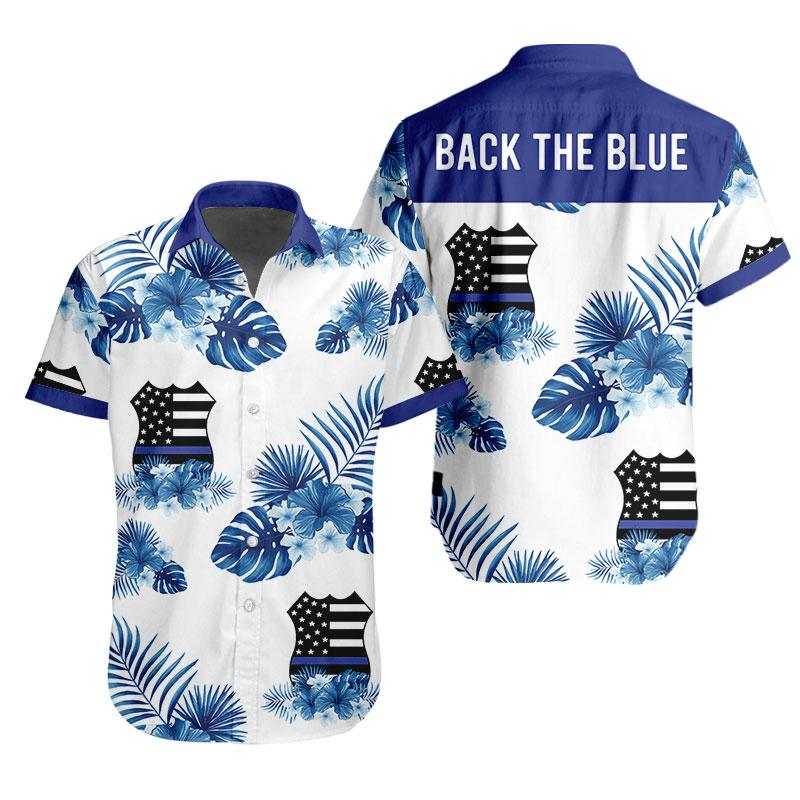 3D  Apparel - Hawaiian Shirt  Customize - Back The Blue - 4zOutfitters Merchandise