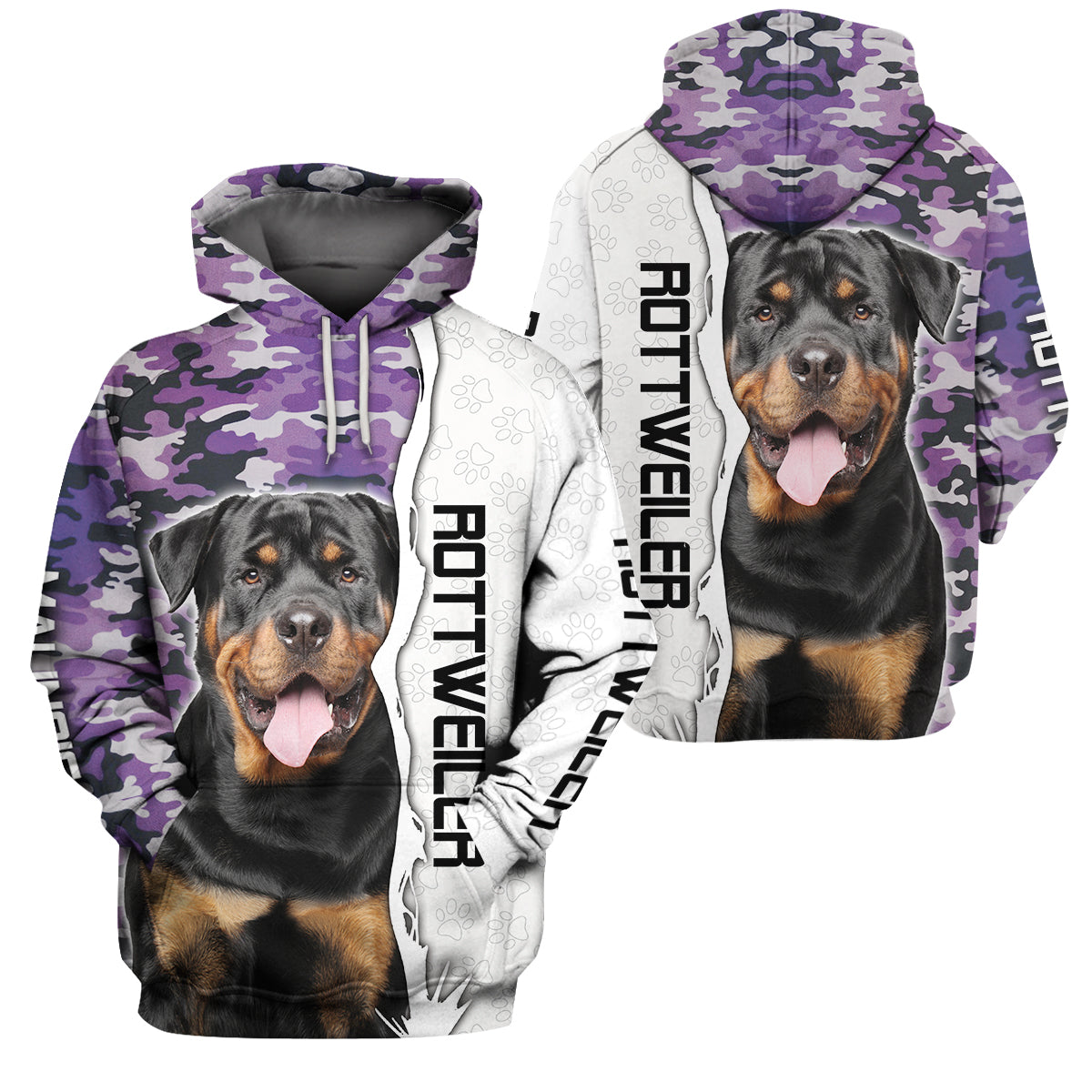 3D Apparel - Purple camouflage - Rottweiler