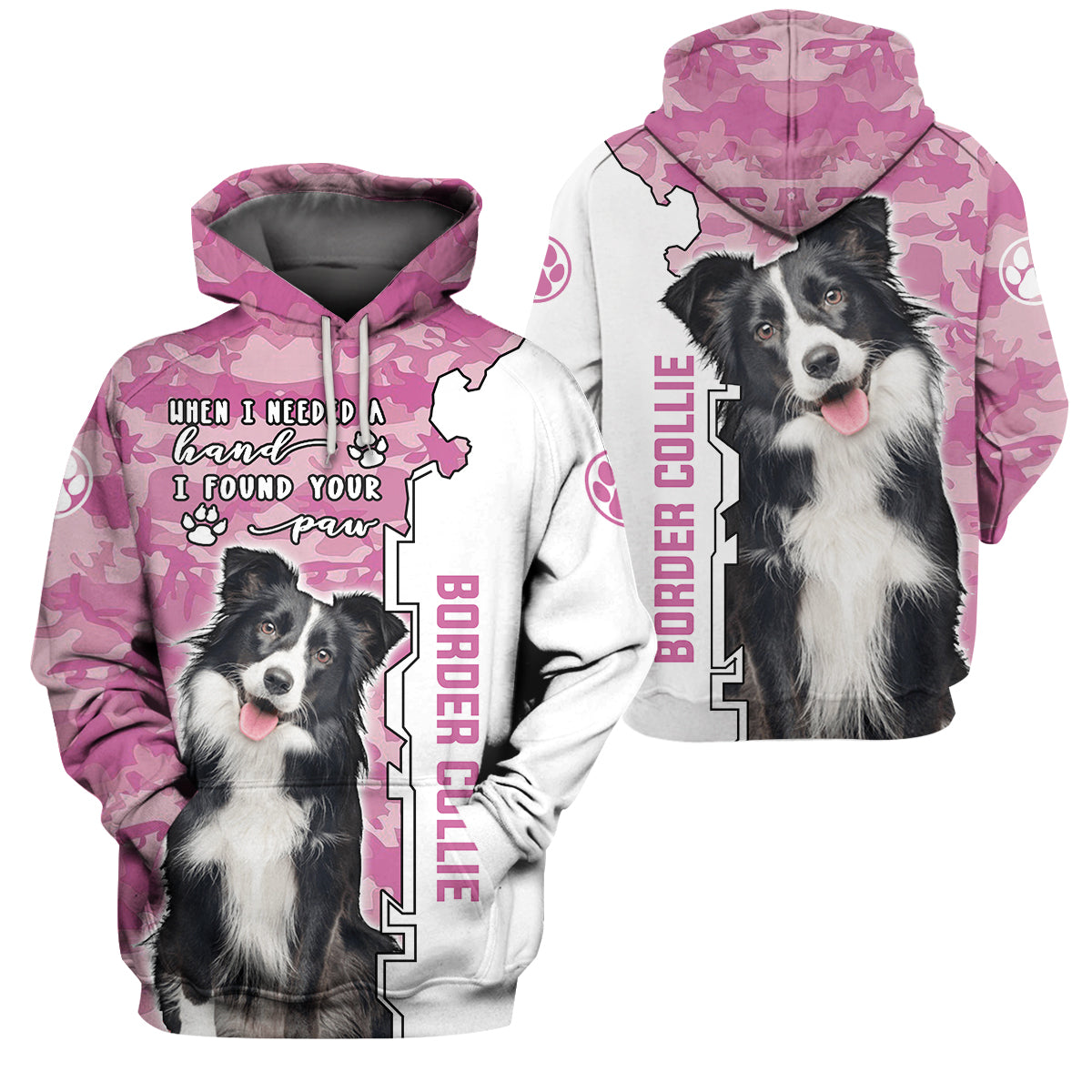 3d Apparel - I found your paw - Border collie