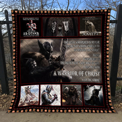 Trending Christian Quilt Collection - The Warrior Of Christ Creed Quilt - ql-hg102 - GnWarriors Clothing