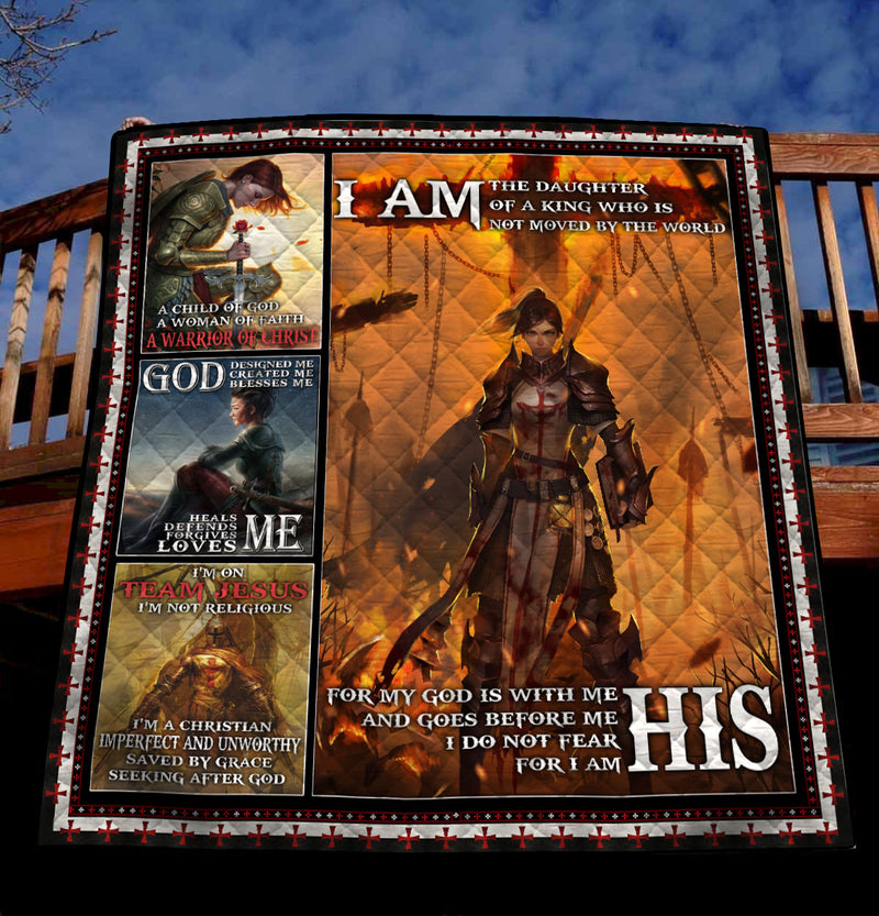 Trending Christian Quilt Collection - I am the daughter of the king ql-hg106 - GnWarriors Clothing