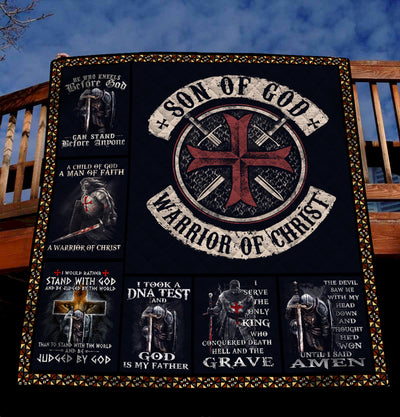 Trending Christian Quilt Collection - Son of God - Warrior of Christ ql-hg112 - GnWarriors Clothing