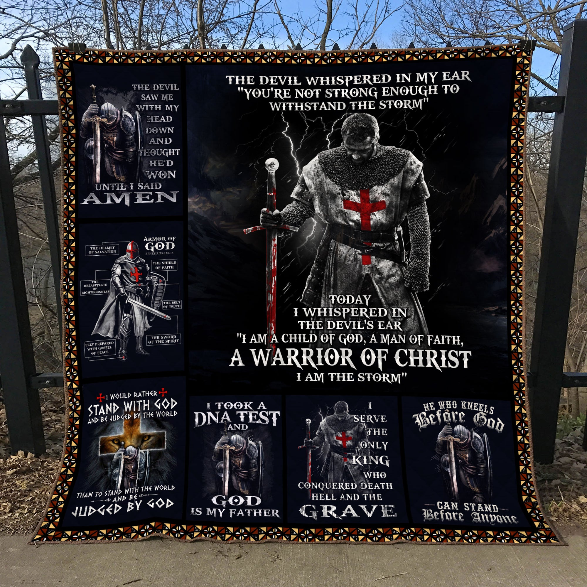 Trending Christian Quilt Collection - The devil whispered to my ear ql-hg113 - GnWarriors Clothing