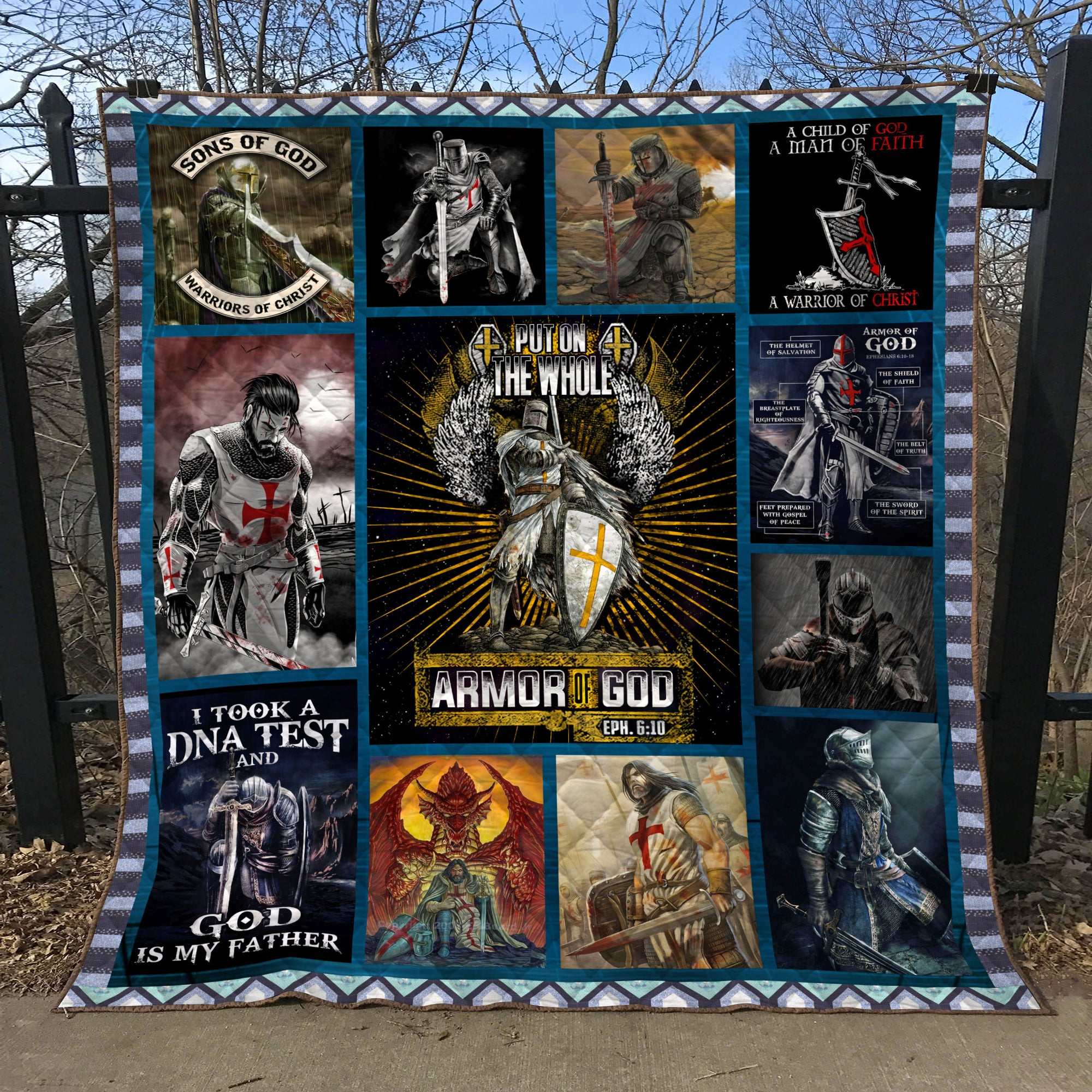 Trending Christian Quilt Collection - Armor of God ql-hg114 - GnWarriors Clothing