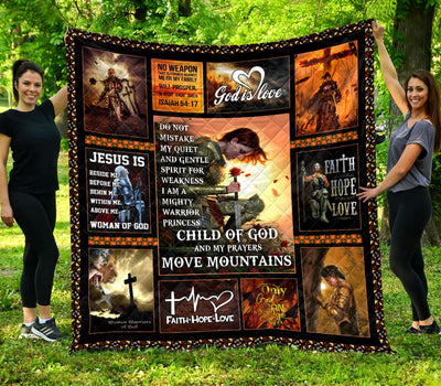 Trending Christian Quilt Collection - Do not mistake my quiet and gentle ql-hg115 - GnWarriors Clothing