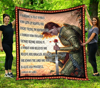 Trending Christian Quilt Collection - A woman Warriors quotes ql-hg116 - GnWarriors Clothing