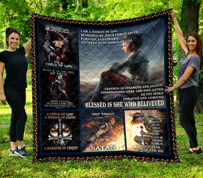 Trending Christian Quilt Collection - A woman Warriors quotes ql-hg117 - GnWarriors Clothing