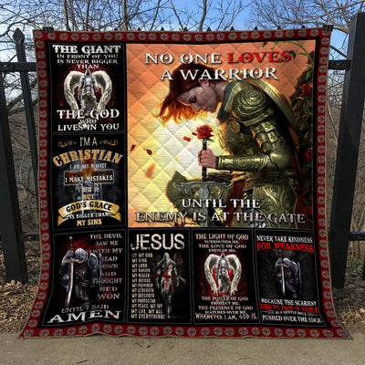 Trending Christian Quilt Collection - A woman Warriors quotes ql-hg120 - GnWarriors Clothing