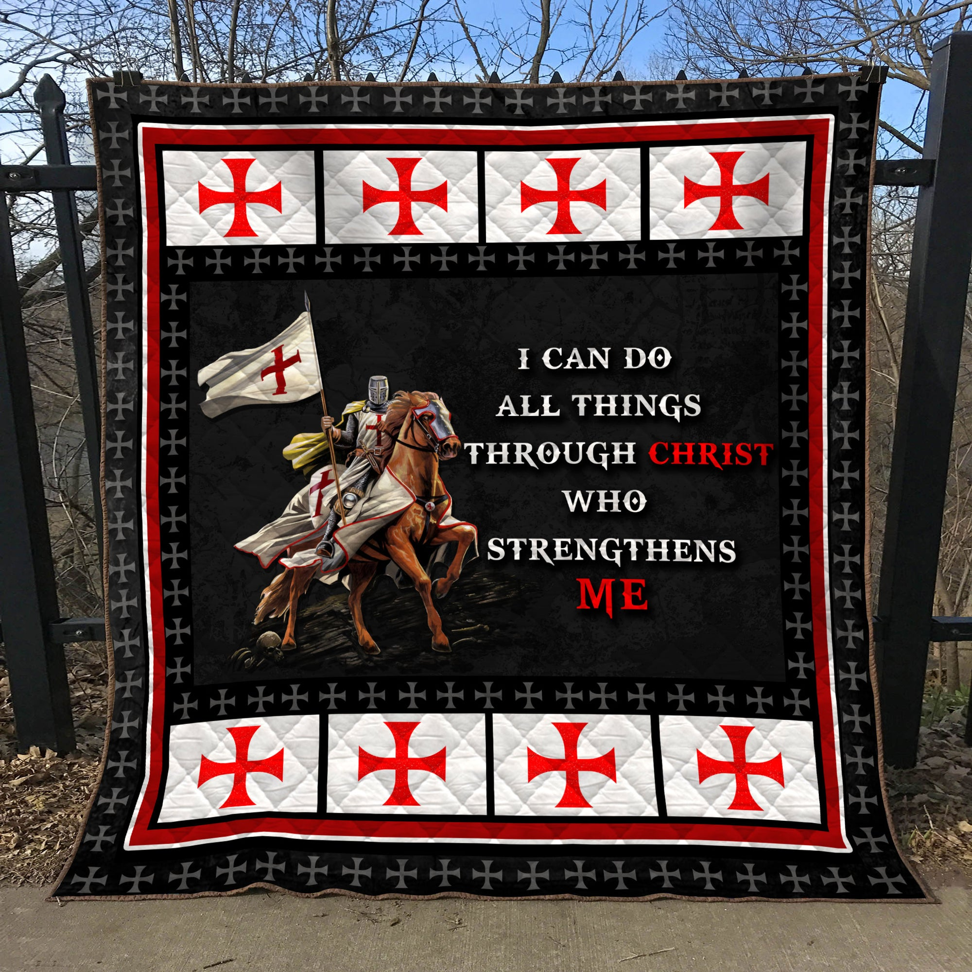 Trending Christian Quilt Collection - I can do all things through christ who strengthen me  ql-hg121 - GnWarriors Clothing