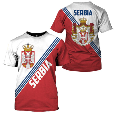 SERBIA LIMITED EDITION 3D FULL PRINTING - GnWarriors Clothing