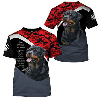 ROTTWEILER RED CAMO LIMITED EDITION - GnWarriors Clothing