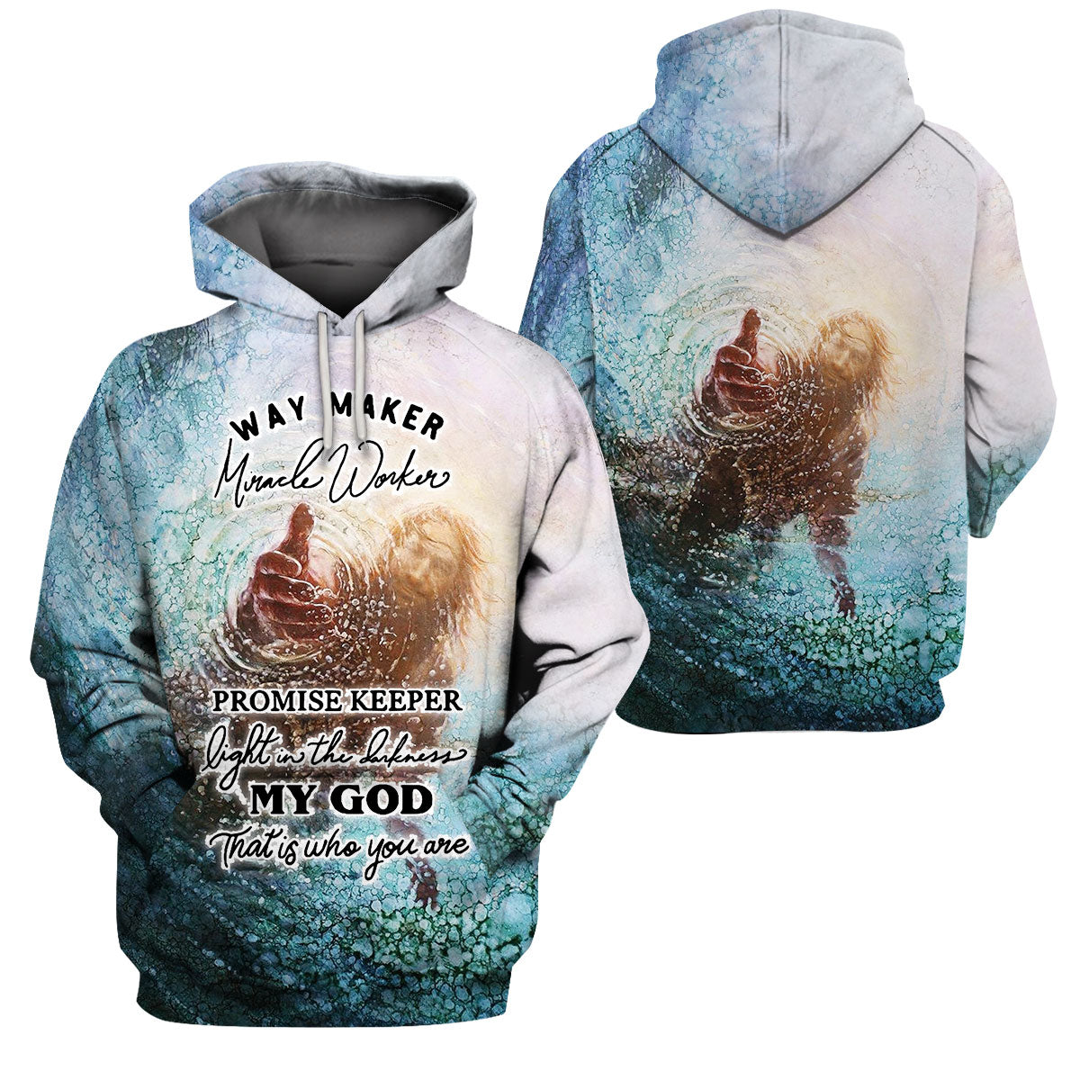 Epic 3D Way Maker Miracle Worker Apparel - GnWarriors Clothing