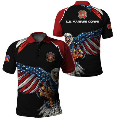 USMC Clothing 3D Printed - New Design Eagle US Flag Wing - GnWarriors Clothing