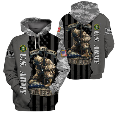 U.S Army Apparel - All Over 3D Printed Clothing - Honoring Our Heroes - GnWarriors Clothing