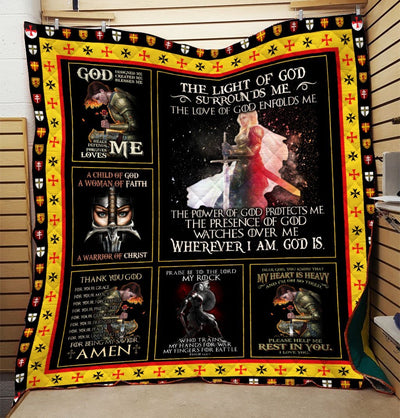 Trending Christian Quilt Collection - The Light Of God Quilt ql-hg37 - GnWarriors Clothing