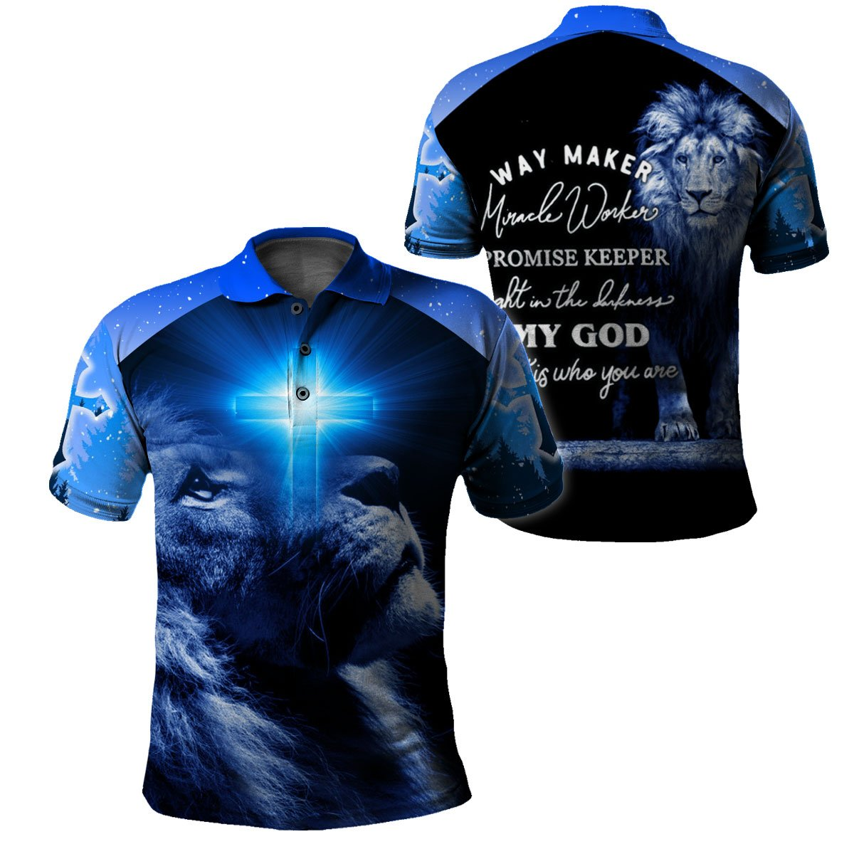 3D Christian Hoodie, Polo, T-shirt- Way Maker Miracle Worker - GnWarriors Clothing