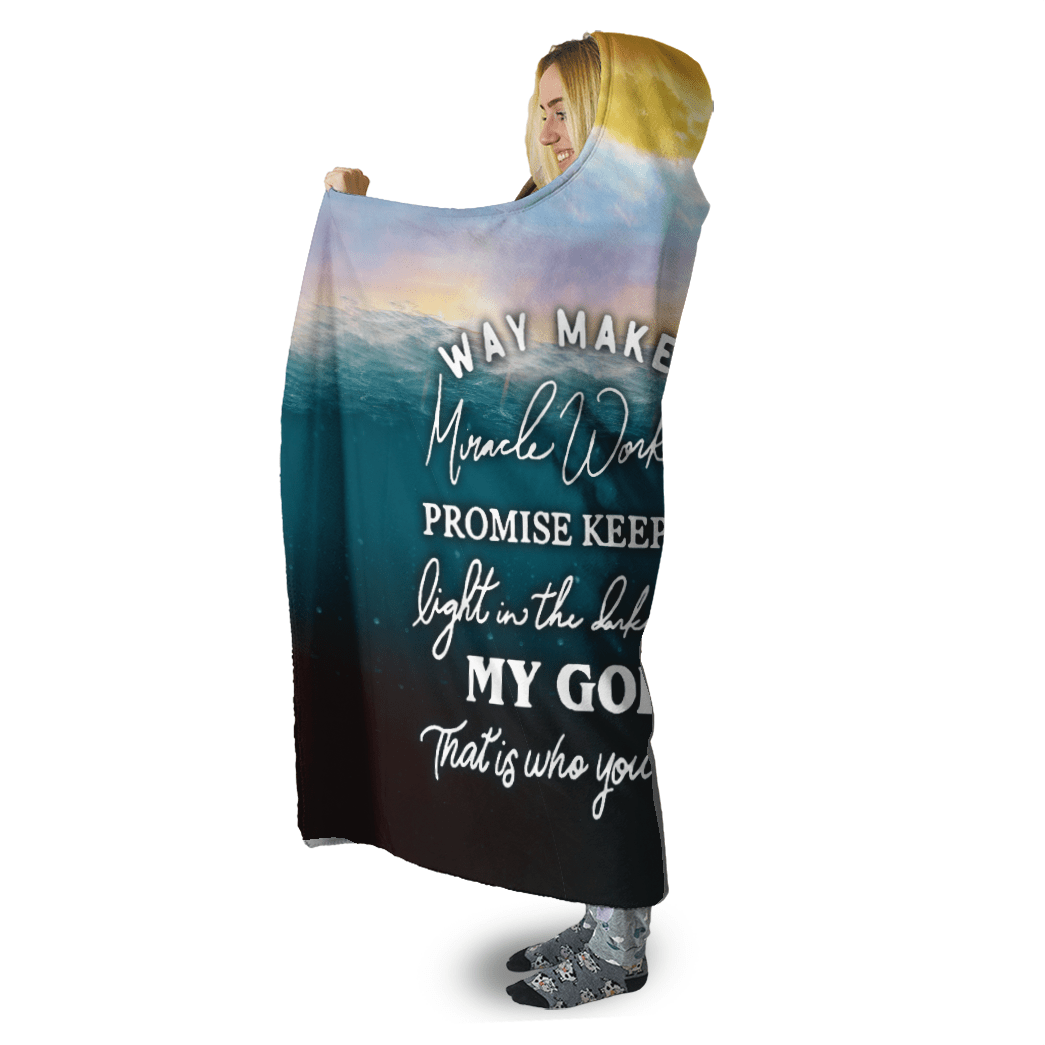 3D Christian Hooded Cloak - Way Maker Miracle Worker - GnWarriors Clothing
