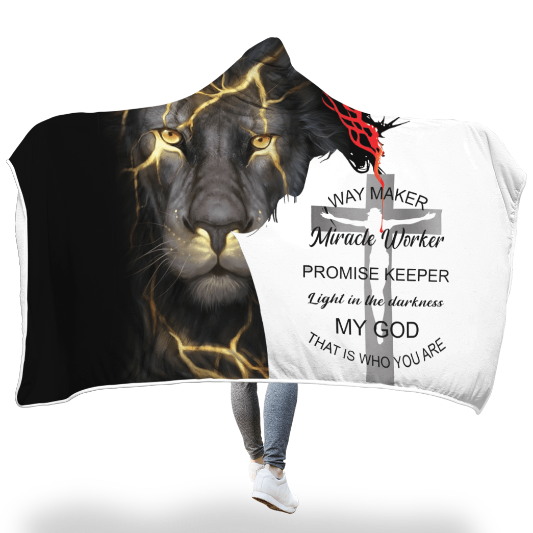 3D Christian Hooded Cloak - Way Maker Miracle Worker - Lion - GnWarriors Clothing