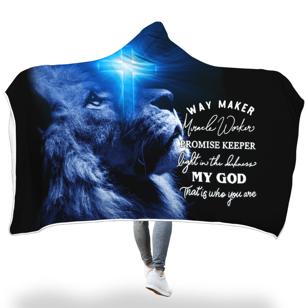 3D Christian Hooded Cloak New Design - Way Maker Miracle Worker - GnWarriors Clothing