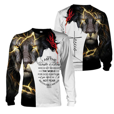 3D Christian Clothing - I Am The Daughter Of A king - GnWarriors Clothing