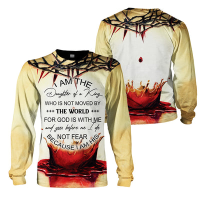 3D Print Full Christian Clothing - I Am The Daughter Of A king - GnWarriors Clothing
