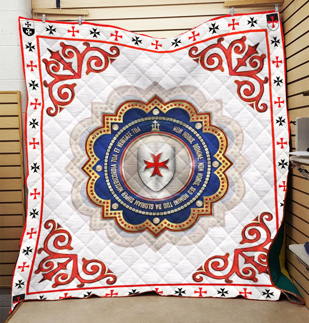 Trending Christian Quilt Collection - Knights Templar Seal Quilt ql-hg48 - GnWarriors Clothing