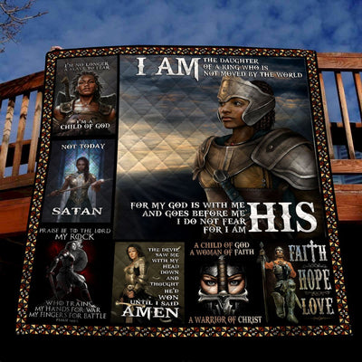 Trending Christian Quilt Collection - I Am The Daughter Of The King Quilt ql-hg49 - GnWarriors Clothing